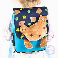 Оптом детский рюкзак для девочек и мальчиков - синий - 630
