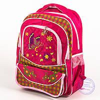 Оптом школьный рюкзак для девочек с бабочкой - красный - 147, фото 1