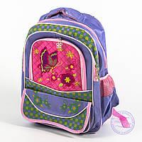 Оптом школьный рюкзак для девочек с бабочкой - сиреневый - 147, фото 1