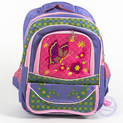 Оптом школьный рюкзак для девочек с бабочкой - сиреневый - 147, фото 2