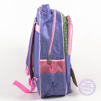 Оптом школьный рюкзак для девочек с бабочкой - сиреневый - 147, фото 3