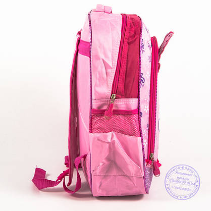Оптом школьный рюкзак для девочек с бабочкой - розовый - 151, фото 3