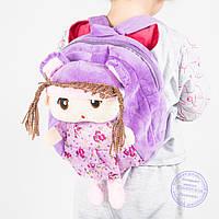 Оптом детский рюкзак для девочек - сиреневый - J109