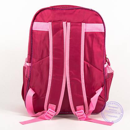 Оптом школьный рюкзак для девочек с бабочкой - красный - 151, фото 2