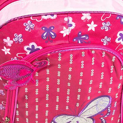 Оптом школьный рюкзак для девочек с бабочкой - красный - 151, фото 3