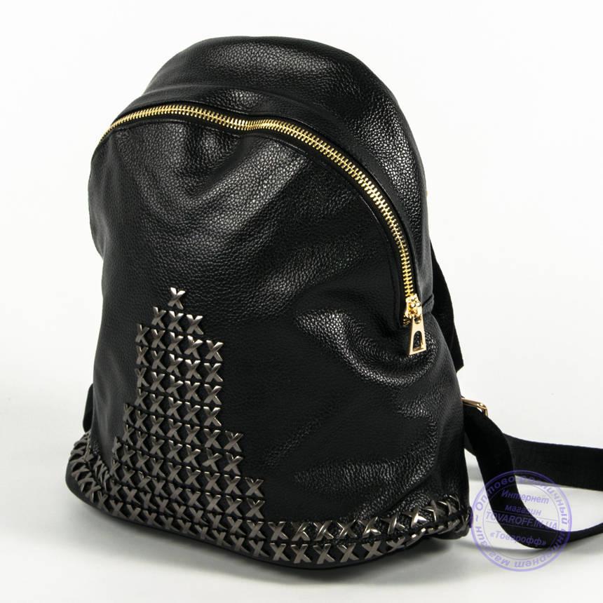 Оптом модный рюкзак из кожзама небольшого формата - 777, фото 2