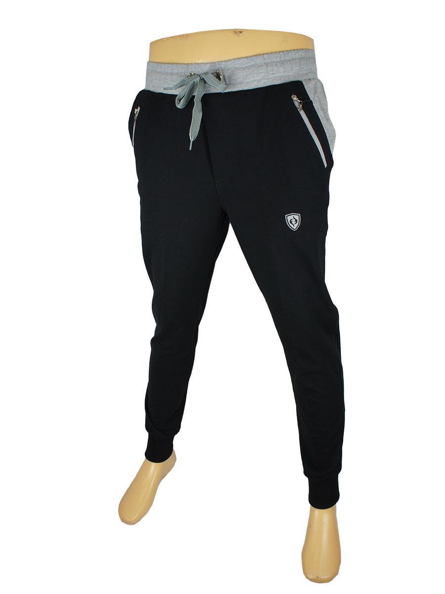 Чоловічі спротивнв брюки Fabiani 15YE3P3783 на манжеті заужені темно-сині та сірі