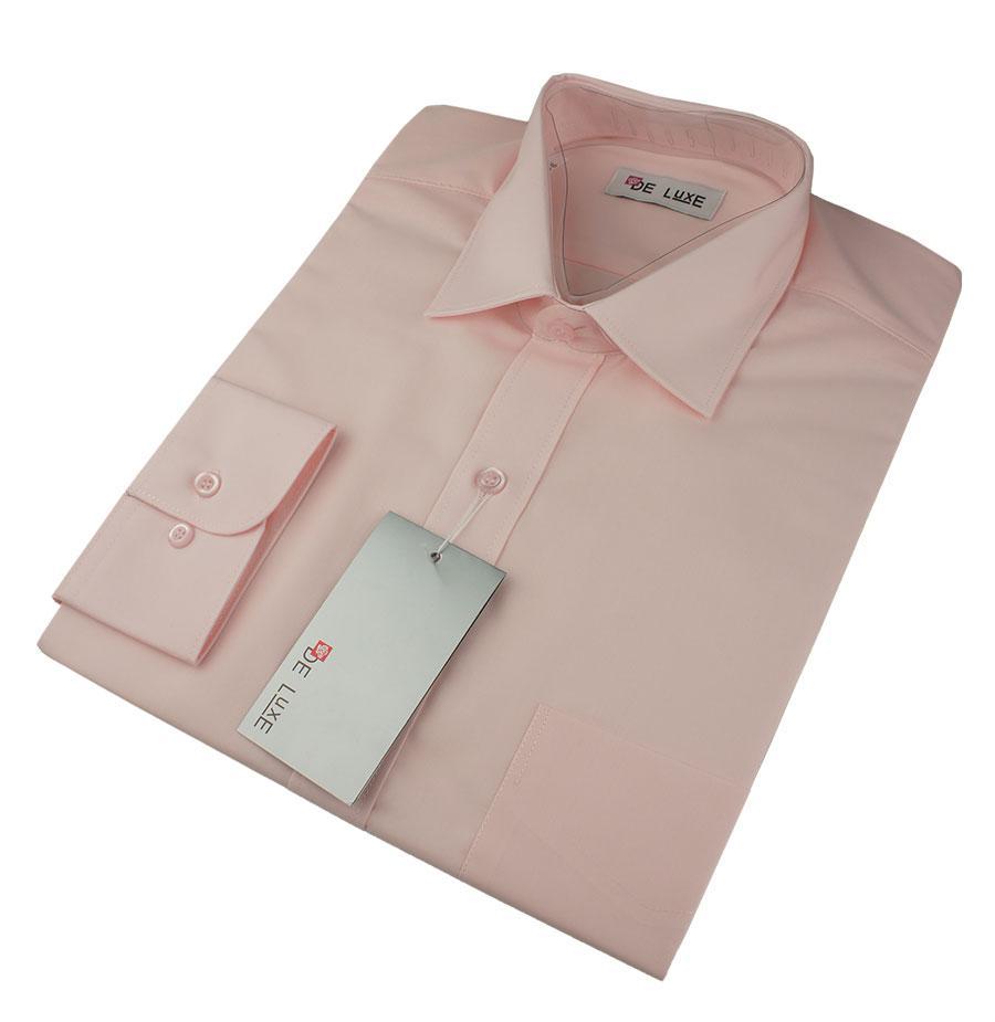 Чоловіча класична сорочка De Luxe 38-46 д/р 209D рожева