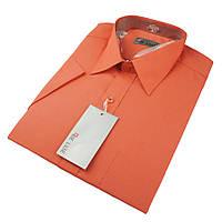 Чоловіча класична сорочка De Luxe 38-46 к/р 119К помаранчевого кольору