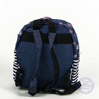 Оптом маленький джинсовый прогулочный рюкзак - синий - 160, фото 2