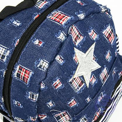 Оптом маленький джинсовый прогулочный рюкзак - синий - 160, фото 3