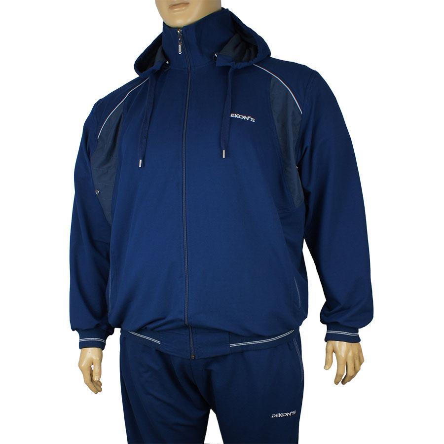 Спортивний костюм з капюшоном великого розміру Dekons 1814 B синій