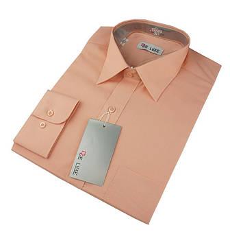 Чоловіча класична сорочка De Luxe 47-54 д/р 213D пюсова великих розмірів