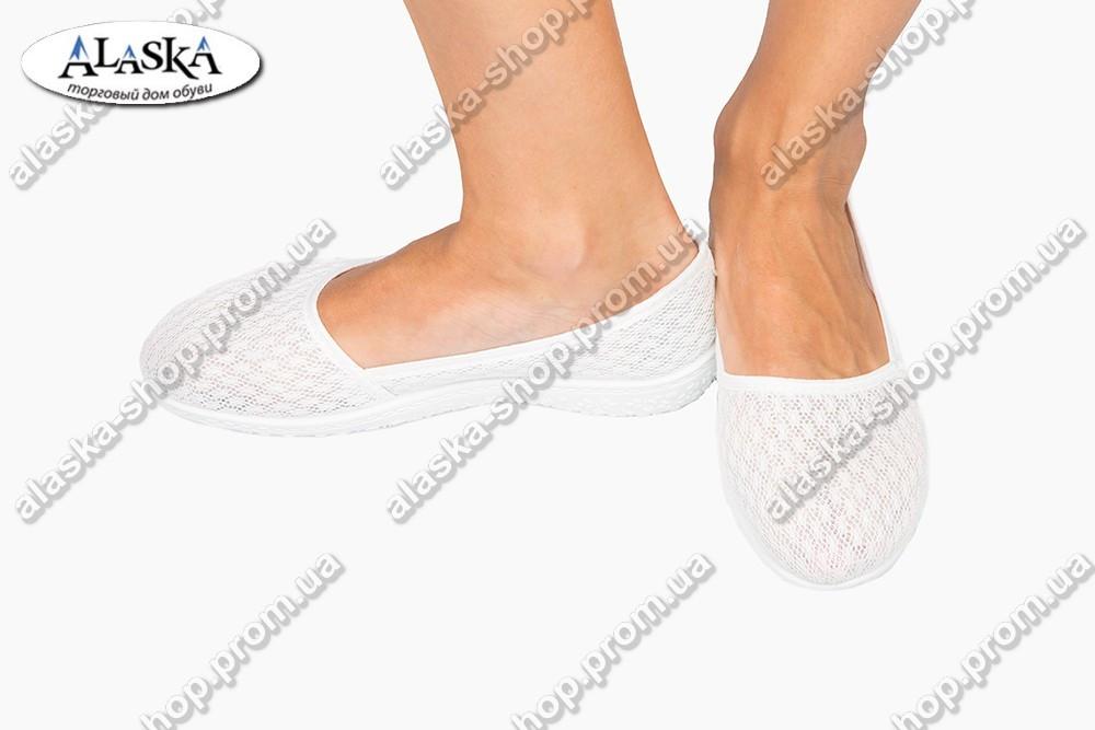 Женские мокасины белые (Код: 1100)