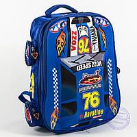 Оптом школьный рюкзак для мальчика 3D машина - синий - 127, фото 1