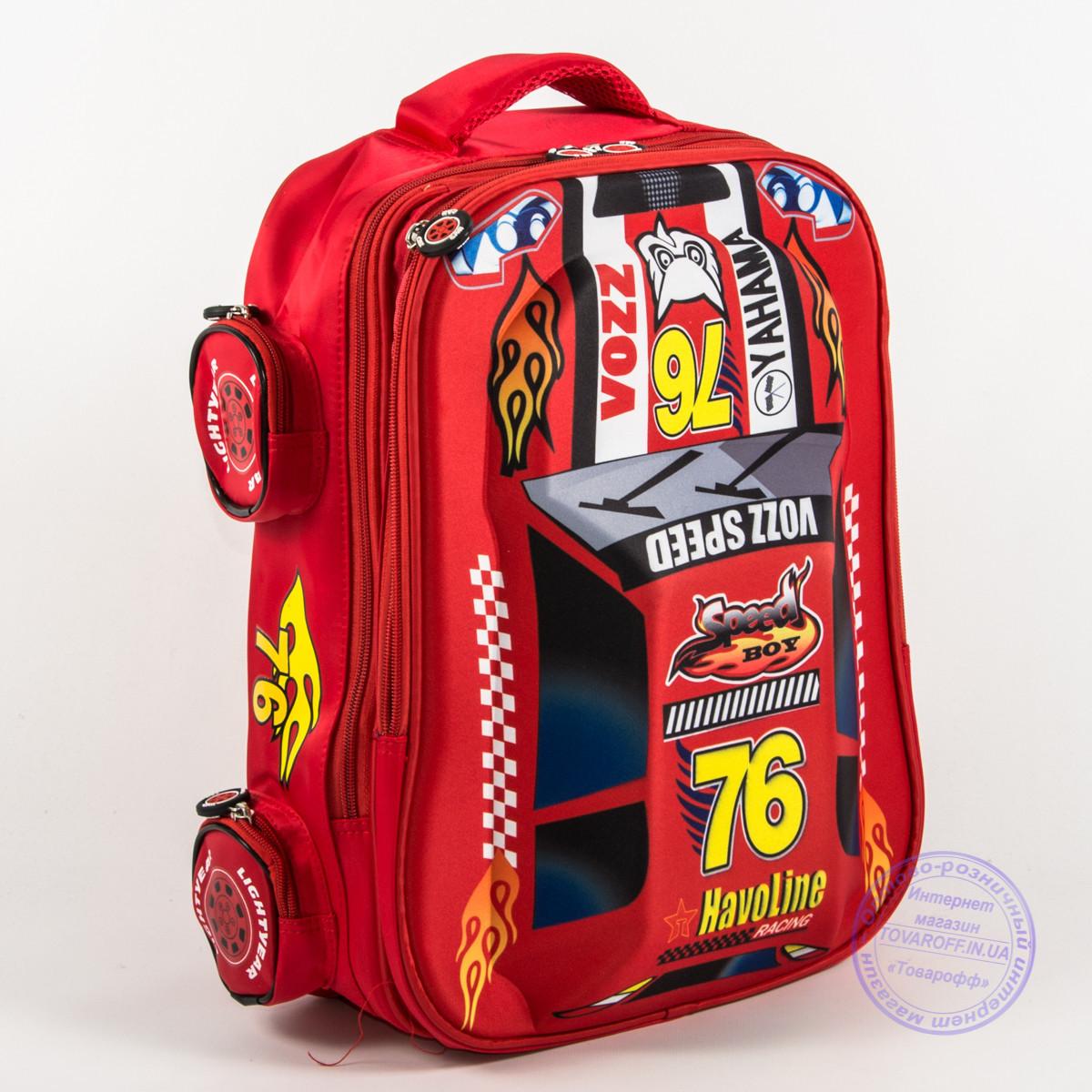 d284f12657ba Оптом школьный рюкзак для мальчика 3D машина - красная - 127 - Интернет  магазин Товарофф в