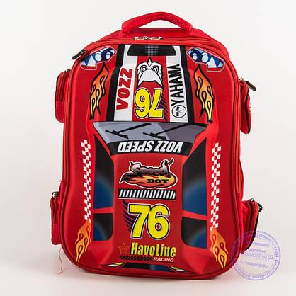 Оптом школьный рюкзак для мальчика 3D машина - красная - 127, фото 2
