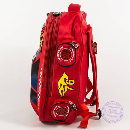 Оптом школьный рюкзак для мальчика 3D машина - красная - 127, фото 3