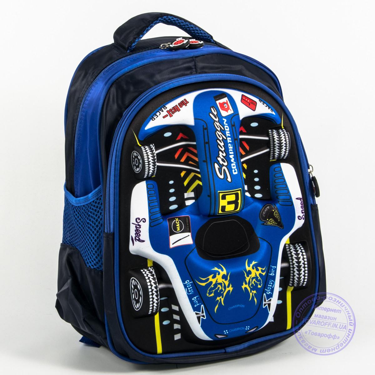69d66c8200e6 Оптом школьный рюкзак для мальчика 3D машина - синий - 129 - купить ...
