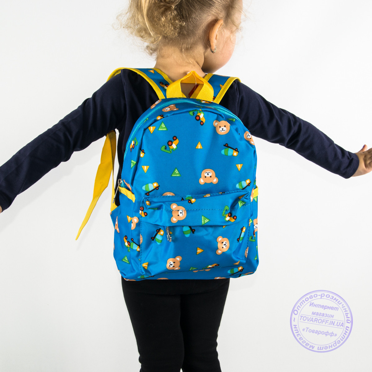 Оптом детский рюкзак для мальчиков и девочек - голубой - 132