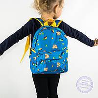 Оптом детский рюкзак для мальчиков и девочек - голубой - 132, фото 1