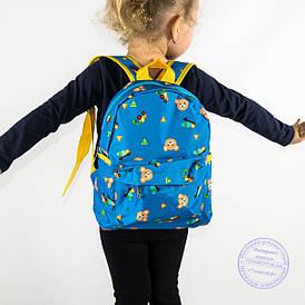 Оптом дитячий рюкзак для хлопчиків і дівчаток - блакитний - 132