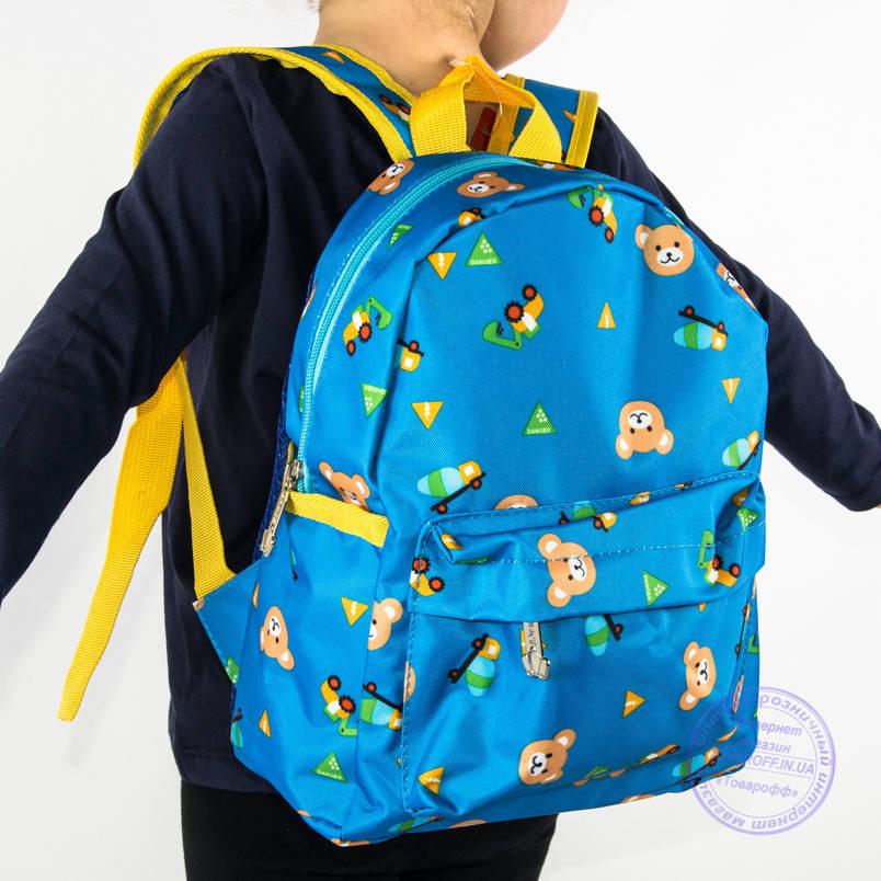Оптом детский рюкзак для мальчиков и девочек - голубой - 132, фото 2