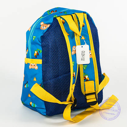 Оптом детский рюкзак для мальчиков и девочек - голубой - 132, фото 3