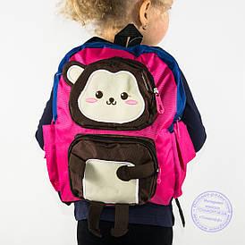 Оптом дитячий рюкзак для дівчаток - рожевий - 136