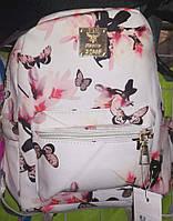 Рюкзак школьный молодежный для девочки с цветочным принтом