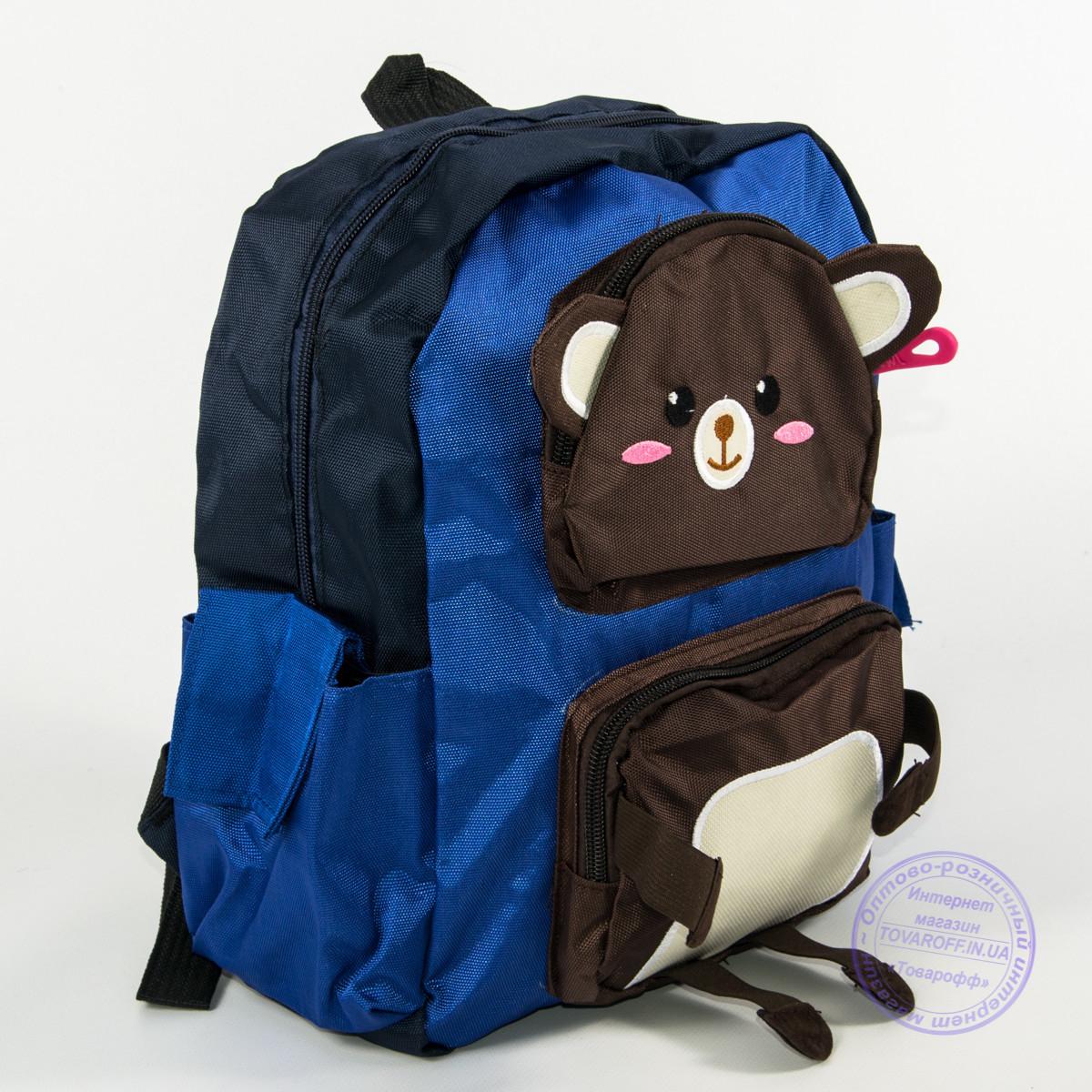 Оптом детский рюкзак для мальчиков - синий - 136