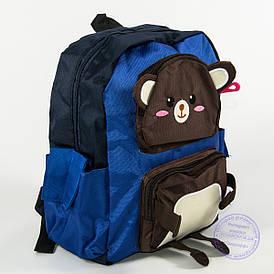 Оптом дитячий рюкзак для хлопчиків - синій - 136