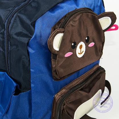Оптом детский рюкзак для мальчиков - синий - 136, фото 2