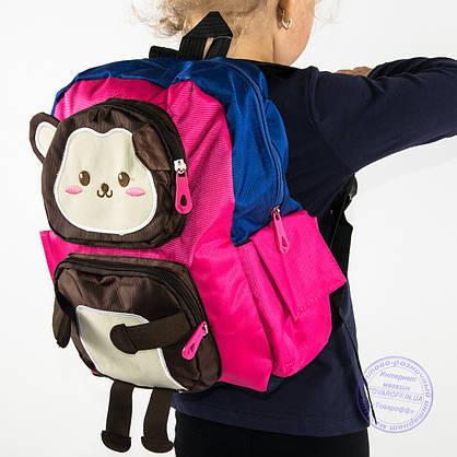 Оптом детский рюкзак для мальчиков - синий - 136, фото 3