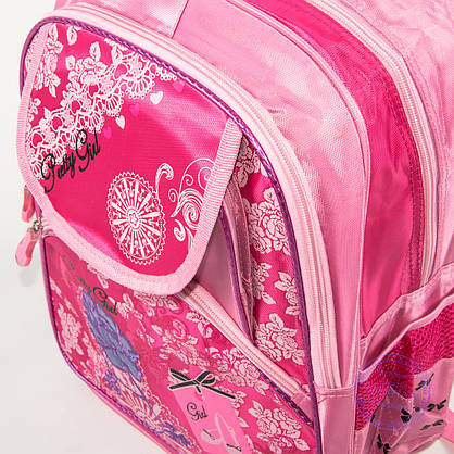 Оптом школьный рюкзак для девочек с цветочком - розовый - 149, фото 3