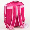 Оптом школьный рюкзак для девочек с цветочком - розовый - 149, фото 5