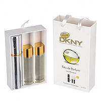 Подарочный парфюмерный набор с феромонами Donna Karan DKNY Be Delicious (Донна Каран Би Делишес) 3x15 мл