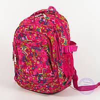 Оптом школьный/прогулочный рюкзак для девочек со звездами - розовый - 103, фото 1