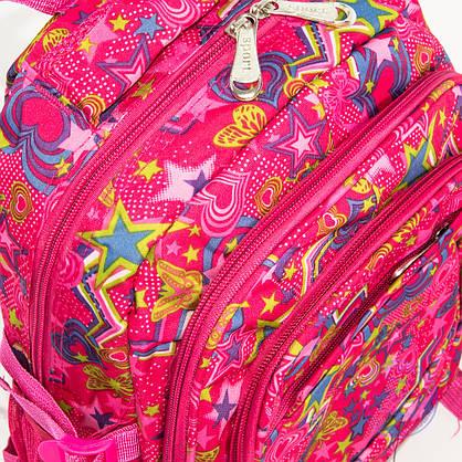 Оптом школьный/прогулочный рюкзак для девочек со звездами - розовый - 103, фото 3