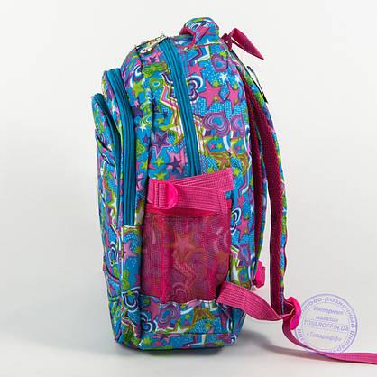 Оптом школьный/прогулочный рюкзак для девочек со звездами - голубой - 103, фото 3