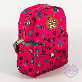 Оптом дитячий рюкзак для дівчаток - рожевий - 135