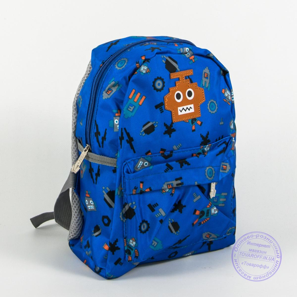 Оптом детский рюкзак для мальчиков и девочек - синий - 135