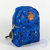 Оптом детский рюкзак для мальчиков и девочек - синий - 135, фото 1