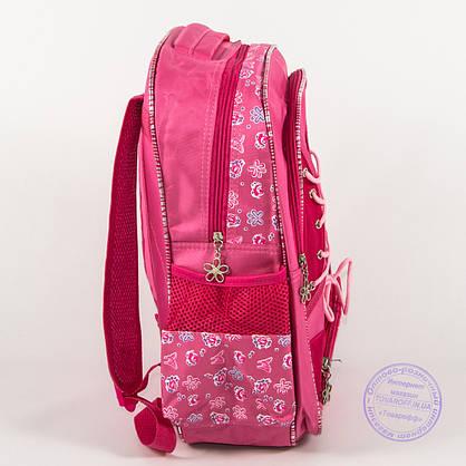 Оптом школьный рюкзак для девочек с бабочкой - розовый - 148, фото 3