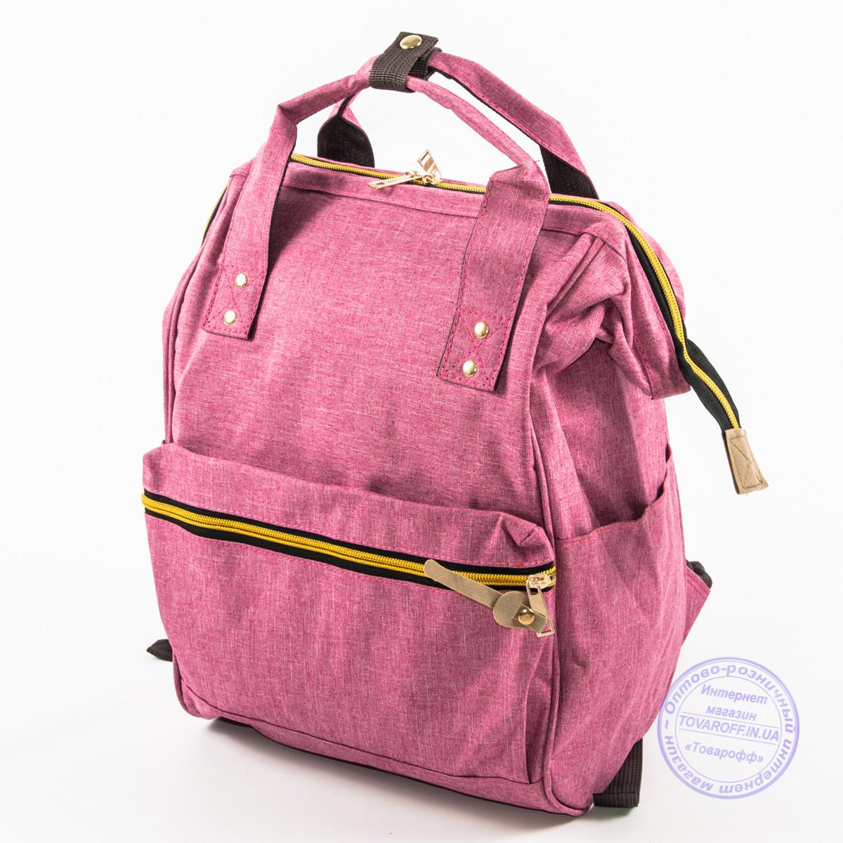 Оптом сумка-рюкзак для школы или для прогулок - розовая - 118