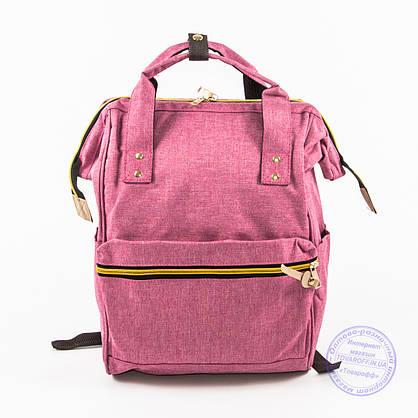 Оптом сумка-рюкзак для школы или для прогулок - розовая - 118, фото 2