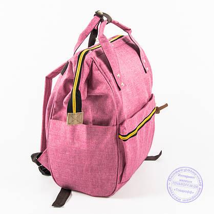 Оптом сумка-рюкзак для школы или для прогулок - розовая - 118, фото 3