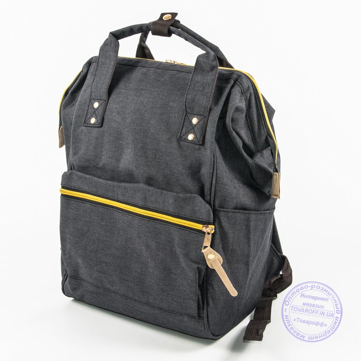 Оптом сумка-рюкзак для школы или для прогулок - черная - 118