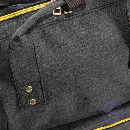 Оптом сумка-рюкзак для школы или для прогулок - черная - 118, фото 3