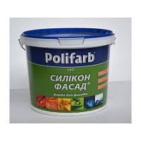 Краска Полифарб Силикон Фасад 14 кг силиконовая фасадная краска